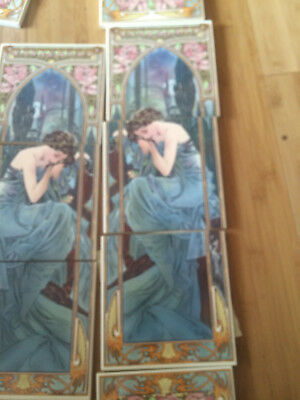 art nouveau mucha fire place tiles back splash