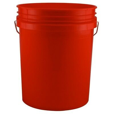 Red 5-Gallon Paint Bucket Storage Pail Sport Equipment Organizer (Pack of 3) New