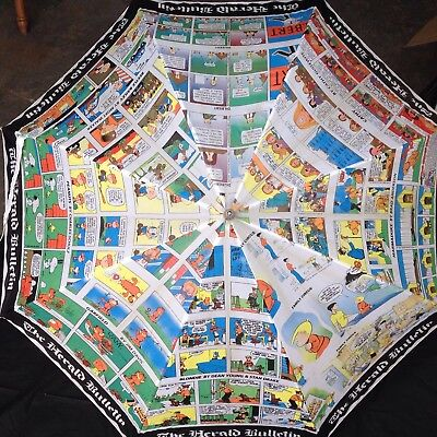 Vintage Comic Strip Cartoon Golf Umbrella Dilbert Garfield Beetle Bailey Cathy