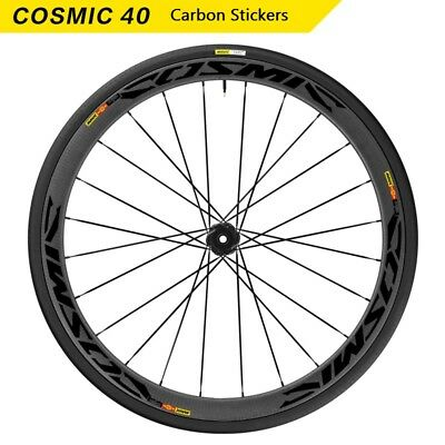 Two Wheels Rim Stickers for Road Bike Bicycle MAVIC COSMIC Carbon CCU 40 Decals