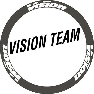 Two Wheels Set Stickers for Vision Rim Road Bike Race Decals 30 38 50 60 88mm