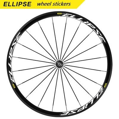 Two Wheels Set Carbon Stickers for ELLIPSE Rim Road Bike Race Fixed Gear Decals