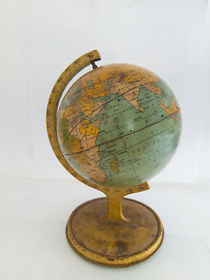 Vintage Tin World Globe by J Chein & Co. Made in USA
