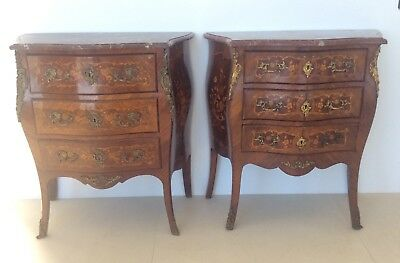 French Antique Marquetry Commode Louis XV Style C.1880