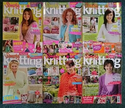 Bundle of 6 Simply Knitting magazines, each with an Alan Dart pattern