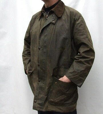 BARBOUR BORDER Cotton Waxed  Jacket   44 inch 112cm