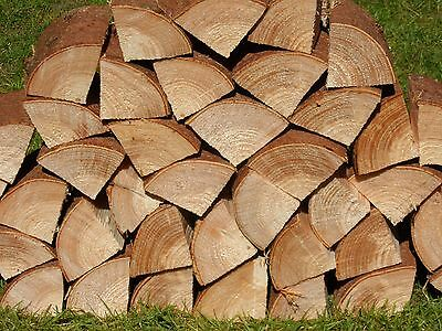 "48 Decorative Display Logs Natural Spruce Wood Logs 48 x 4"" long x 3"" thick"