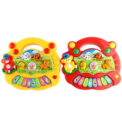 Baby Kid's Animal Farm Mobile Piano Smart Music Toy Electric ENGLISH Early Baby