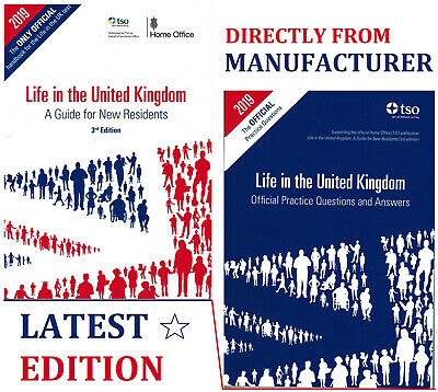 Life In The UK United Kingdom 2019 - 2 Book Set British Citizenship Test-LfQa