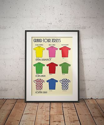 Cycling A3 Grand Tour Jerseys Tour de France TDF Giro Vuelta Artwork