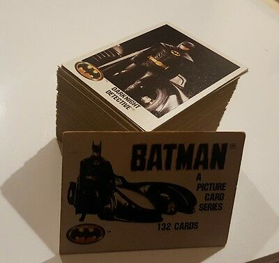 BATMAN 1989 Trading Card full Set of 132 topps  KEATON Topps Series 1 rare