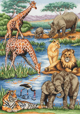 Counted Cross Stitch Kit ANCHOR - Maia Collection - African Wildlife