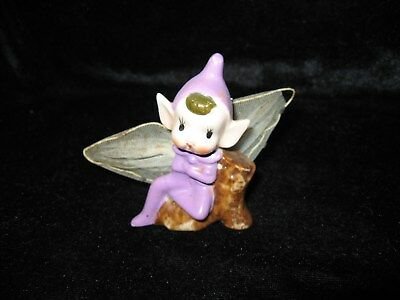 Vintage Kitsch Retro Pixie Ornament-Collectable China-Good Condition-7cms