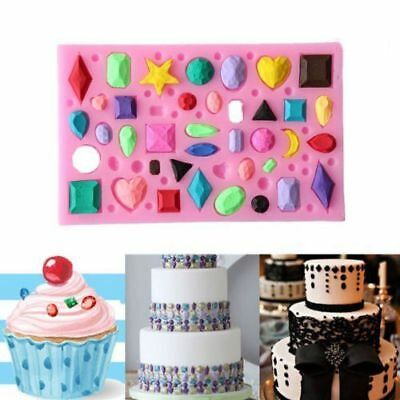 3D Silicone Diamond Gem Beads Mould Mold Cake Fondant Sugars Soap Silicone Tools