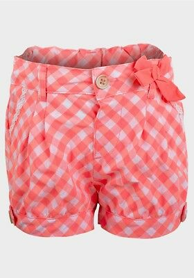 BNWT Girls Lily & Lola Pink & White Check Shorts Ages 2-3 & 3-4 Years Only