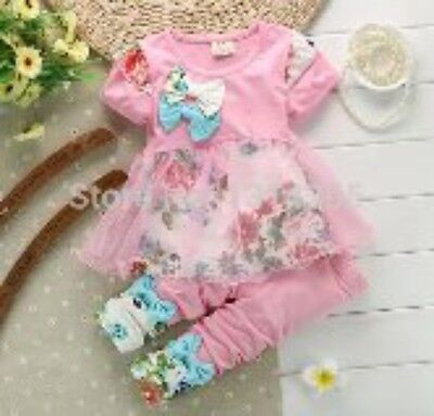 BNWT Floral Outfit Pink 3-6 Months & 6-12 Months