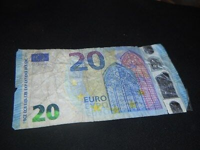 1x €20 EURO (Real Currency) EUROPEAN UNION Money 2015+ Banknote Bank Note €