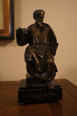 Large Bronze Statuette of Saint Jerome After Vittoria, dated 1658