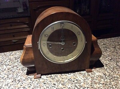 Antique French 8 Day Mantel Clock V.a.p Brevete Movement With Pendulum & Key
