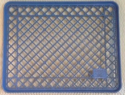 Campbell Taggart BAKERY RACK BREAD COOKIE TRAY  PLASTIC COMMERCIAL Blue 26x21