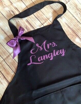 Personalized Apron with name grill master, wedding gift Bridesmaid Gift
