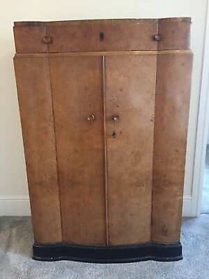 Art Deco Burr Walnut Tallboy / Wardrobe