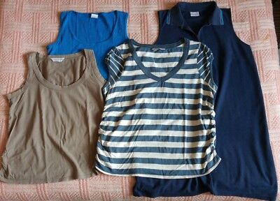 Maternity clothes size 18 pinafore and tops
