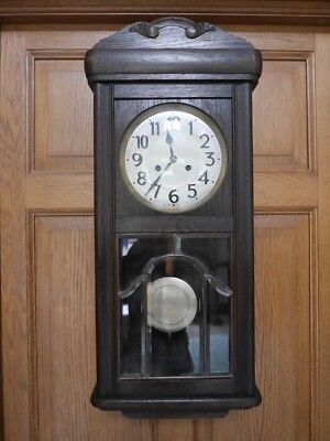 Antique German (Black Forest) Junghans Chiming Wall Clock