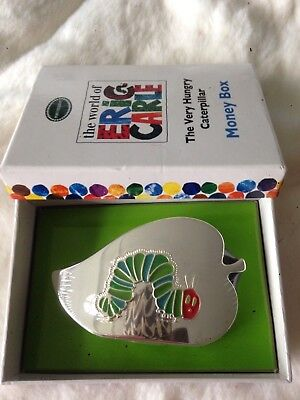 Portmeirion Very Hungry Caterpillar Silver Plated Leaf Shaped Money Box BNIB