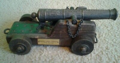 """Vintage-Rare-Collectable """"english Naval Cannon 1876 Period """" On Stand"""