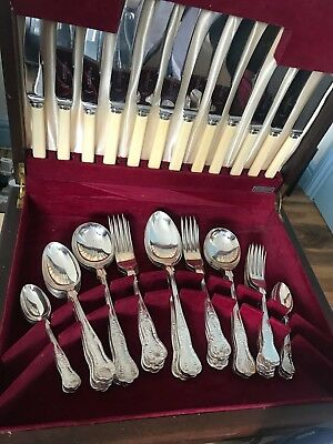 SHEFFIELD Cutlery -silver plate 46 piece WILLIAM PEGE & PARTNERS LTD EP-NS-A-1