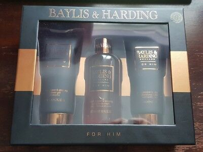 Baylis & Harding For Him - Black Pepper & Ginseng 3 Piece Gift Set - New & Boxed