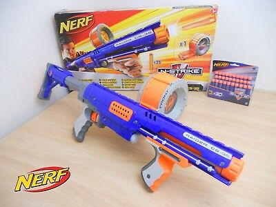 BOXED NERF Raider CS-35 Rapid Fire Blaster Gun N-Strike Elite + 30 NEW DARTS