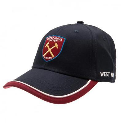 7e1874a5caf West Ham United Fc Navy Colour Core Adult Baseball Cap Hat New Xmas Gift