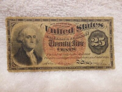 Fractional Currency 25 Cent Note  1863