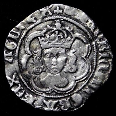 King Henry VII England. Facing Bust HalfGroat. Exceptional English Silver Coin.