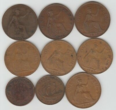 Great Britain, lot of 9 coins