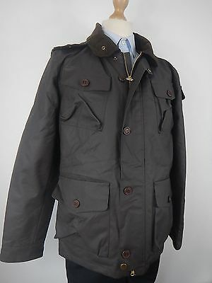 Barbour Mens Brown Waxed Cotton Country Coat Jacket Size Medium New Without Tags