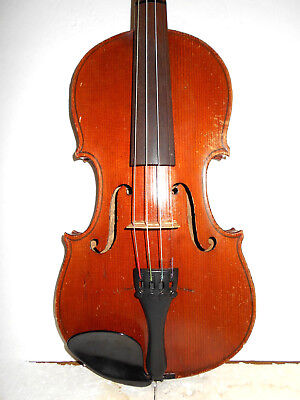 Antique Old Vintage German 2 Pc. Back Full Size Violin - No Reserve