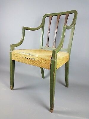 19Thc Painted Armchair