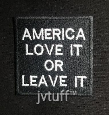America Love It Or Leave It Embroidered Patch Biker Motorcycle Vest Iron Sew On