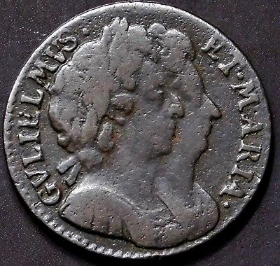 King William & Queen Mary of England. Exceptional Fathering 1964. English Coin.