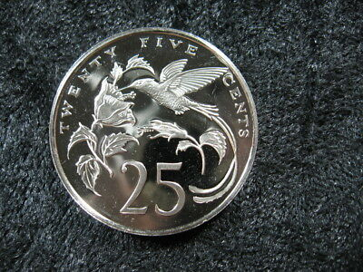 "1 old world proof coin JAMAICA 25 cents 1979 KM56 ""Hummingbird"" low mintage"