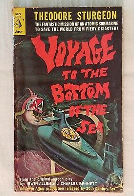 VOYAGE TO THE BOTTOM OF THE SEA ~ Sturgeon ~ PBO 1961 Pyramid G622 Movie Tie-In
