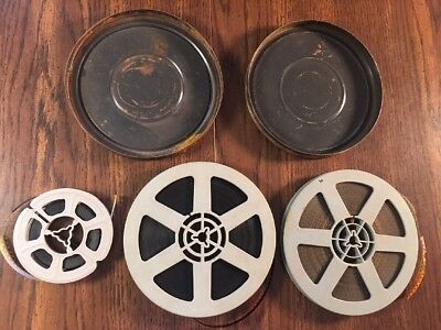 """VINTAGE 1950's - 1960's? B&W STAG MOVIES LOT 2 Hard 5"""" 8mm REELS One 3"""" """"Pinup"""""""