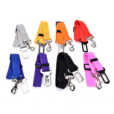 Adjustable Car Safety Seat Belt Harness Restraint Lead Travel Clip For Pet Dog~Y