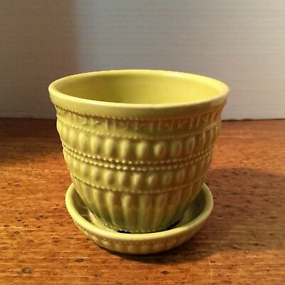 McCoy, Yellowish Green Lovely Planting Pot, Made in USA