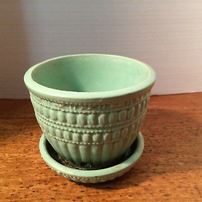 Mccoy, Turquoise in color, A super planting pot, Made in USA