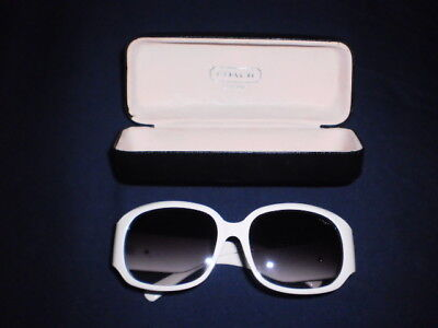 Vintage Coach white sunglasses and hard case