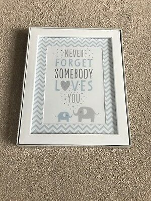 New baby boy picture frame. New baby, baby shower, christening gift.